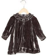 Little Marc Jacobs Girls' Velvet Long Sleeve Dress