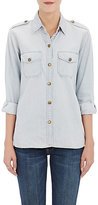 Current/Elliott Women's Cotton Long-Sleeve Shirt-LIGHT BLUE, BLUE