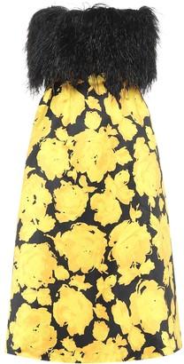 Richard Quinn Floral satin midi dress