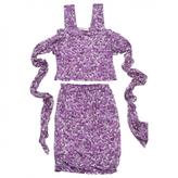 Saint Laurent Purple Silk Top