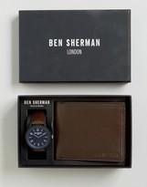 Ben Sherman Brown Watch & Wallet Gift Set
