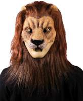 Forum Novelties Men's Latex Lion Mask with Hair