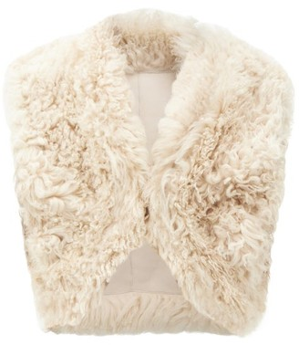 Isabel Marant Astio Shearling Gilet - Cream