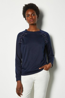 Karen Millen Crew Neck Lounge Long Sleeve Jumper