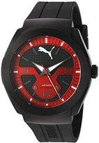 Puma Quartz Stainless Steel and Polyurethane Watch, Color:Black (Model: PU103931002)