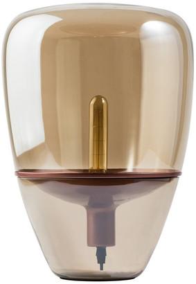 Finesse Decor Glass Globe, Fume, Copper Table Lamp
