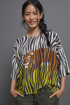 Corey Lynn Calter Tiger Blouse By in Assorted Size XS