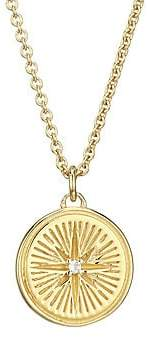 Astley Clarke Women's Small 18K Goldplated, Sterling Silver & White Sapphire Star Pendant Necklace