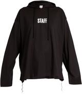 Vetements X Hanes Staff hooded cotton sweatshirt