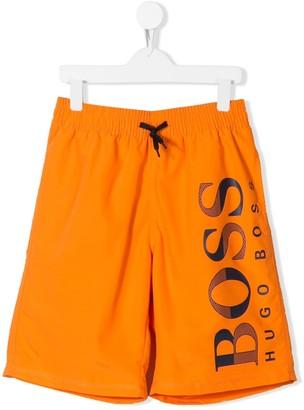 Boss Kids Logo Swim Shorts