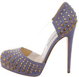 Brian Atwood PVC-Accented Studded Pumps