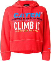 DSQUARED2 Climb It printed oversized hoodie - women - Cotton/Spandex/Elastane - XS