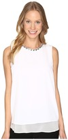 Calvin Klein Sleeveless Jewel Neck Top
