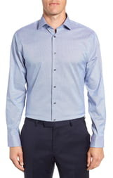 Calibrate Trim Fit Stretch No-Iron Solid Dress Shirt