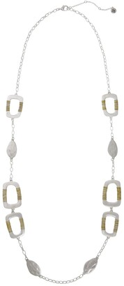 The Sak Two-Tone Square Casting Station Long Necklace