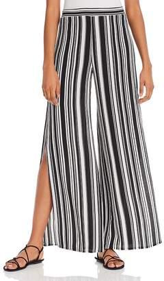 Aqua Striped Split Wide Leg Pants - 100% Exclusive