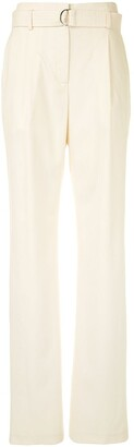 Sally LaPointe High-Rise Wide Leg Trousers