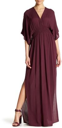 Love Stitch Gauze Kimono Maxi Dress