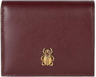 Alexander McQueen Leather Beetle Folded Wallet