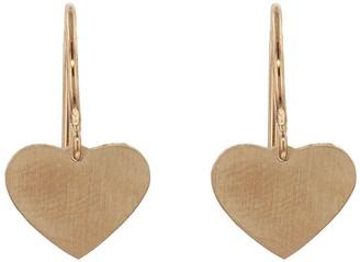 Irene Neuwirth Tiny Heart Rose Gold Drop Earrings