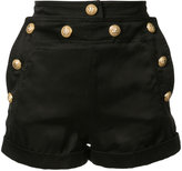 Balmain button shorts - women - Cupro - 36
