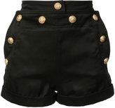 Balmain - woven shorts - women -