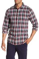 Travis Mathew Long Plaid Slim Fit Shirt