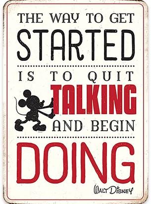 Disney Mickey Mouse ''Quit Talking'' Tin Wall Decor