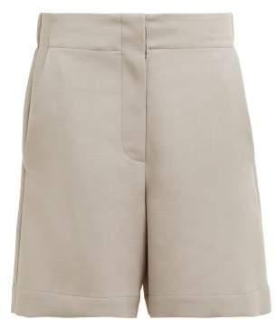 Raey Elasticated Back Wool Blend Shorts - Womens - Grey