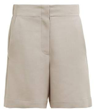 Raey Elasticated Back Wool Blend Shorts - Womens - Grey