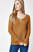 La Hearts Lace-Up Sweater