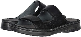 Naot Footwear Trancoso (Soft Black Leather/Glass Silver) Women's Shoes