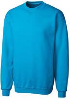 Clique Neon Blue Fleece Crewneck Pullover