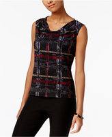 Nine West Cowl-Neck Printed Shell