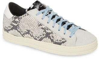 P448 John Snake Embossed Low Top Sneaker