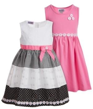 Blueberi Boulevard Toddler Girls 2-Pk Daisy-Trim Dresses
