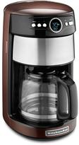 KitchenAid 14-Cup Programmable Coffee Maker with Glass Carafe in Espresso