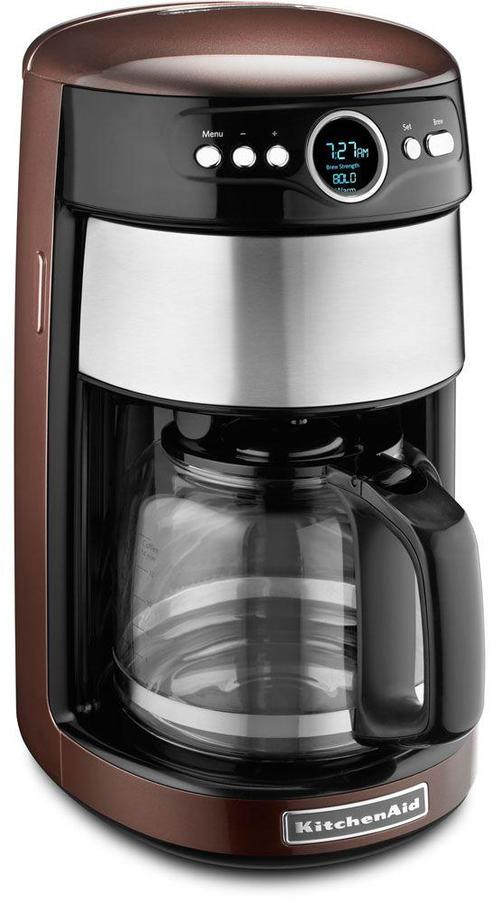 KitchenAid 14-Cup Programmable Coffee Maker with Glass Carafe in Onyx Black