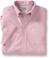 L.L. Bean Wrinkle-Free Classic Oxford Cloth Shirt, Traditional Fit Short-Sleeve