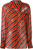 Marco De Vincenzo striped shirt - women - Silk/Acetate - 42