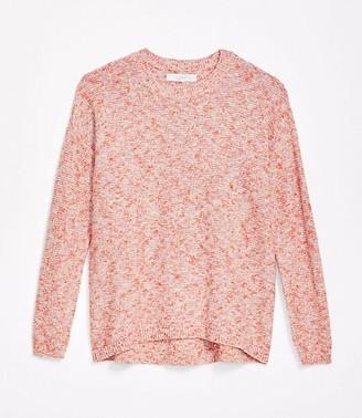 LOFT Marled Textured Drop Shoulder Sweater