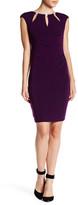Eliza J Cap Sleeve Embellished Sheath Dress