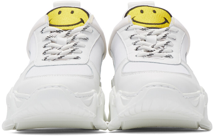 Thumbnail for your product : Joshua Sanders White Smiley Edition Donna Sneakers