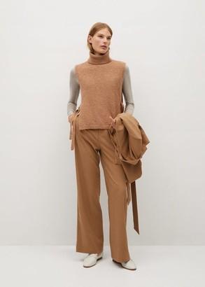 MANGO Ribbed knit t-shirt