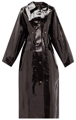 Kassl Editions Detachable-sleeve Pvc-coated Raincoat - Black