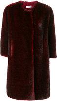 Alberto Biani faux fur collarless coat