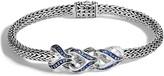 John Hardy Extra Small Asli Classic Chain Pave Sapphire Bracelet