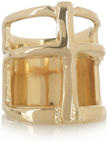 Gold-plated cross ring