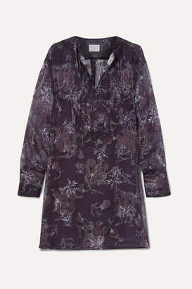 Jason Wu Floral-print Fil Coupé Georgette Mini Dress - Black