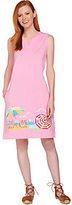Denim & Co. As Is Beach Sleeveless Cover Up Dress w/ Beach Scene